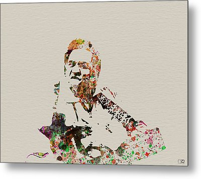 Johnny Cash Metal Print by Naxart Studio