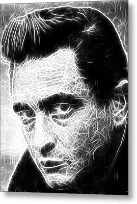 Johnny Cash Metal Print by Paul Van Scott