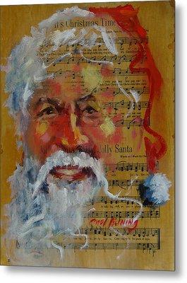 Jolly Santa Metal Print