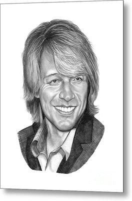 Jon Bon Jovi Metal Print by Murphy Elliott