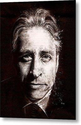 Jon Stewart Metal Print by Fay Helfer