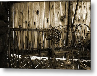 Metal Print featuring the photograph Jones Seat Sepia by Joanne Coyle