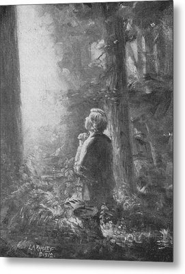 Joseph Smith Praying In The Grove Metal Print