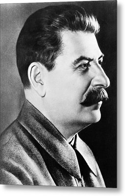 Joseph Stalin, Secretary-general Metal Print