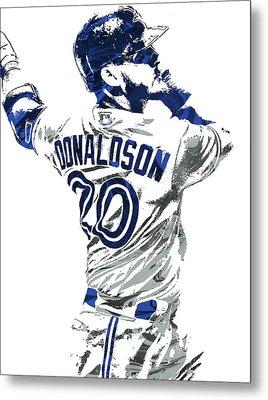Josh Donaldson Toronto Blue Jays Pixel Art Metal Print