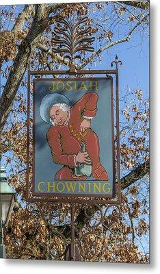 Josiah Chowning Sign Metal Print by Teresa Mucha