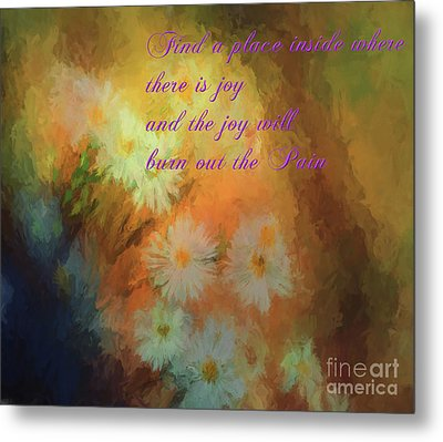 Metal Print featuring the mixed media Joy by Jim  Hatch