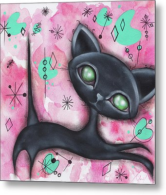 Joyce Cat Metal Print by Abril Andrade Griffith