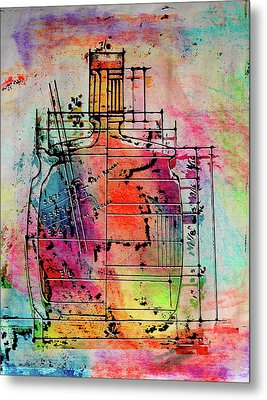 Jug Drawing Metal Print by Don Gradner
