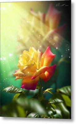 Juicy Rose Metal Print by Svetlana Sewell