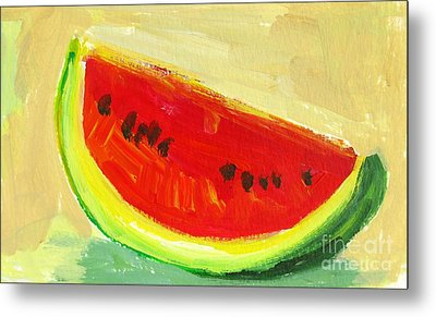 Juicy Watermelon - Kitchen Decor Modern Art Metal Print