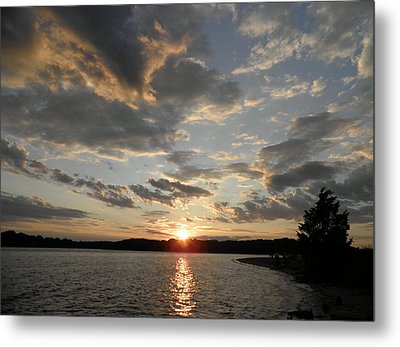 July Sunset Metal Print by Kate Gallagher