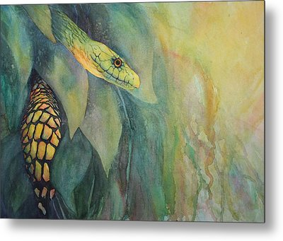 Jungle Guardian Metal Print by Judy Raley