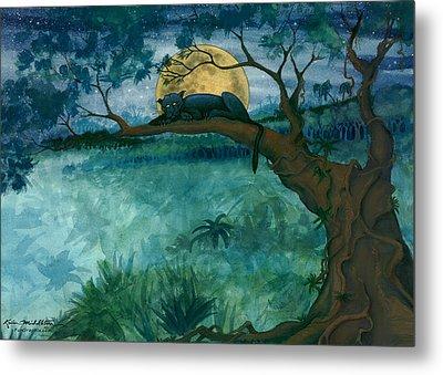 Jungle Panther Metal Print
