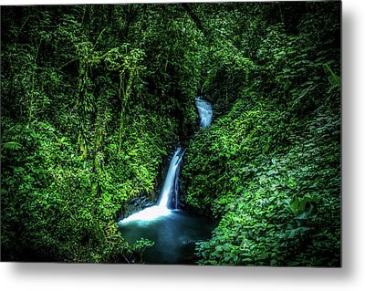 Jungle Waterfall Metal Print