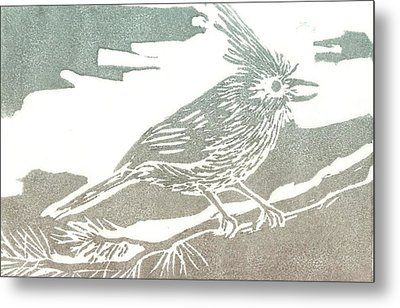 Juniper Titmouse Metal Print