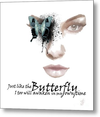 Just Like The Butterfly Metal Print