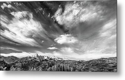 Metal Print featuring the photograph Just The Clouds by Jon Glaser