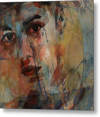 Metal Print featuring the mixed media Justin Bieber by Paul Lovering