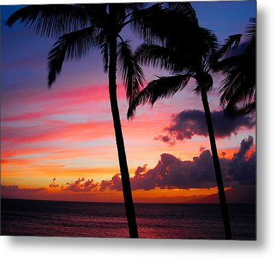 Kaanapali Sunset  Kaanapali  Maui Hawaii Metal Print