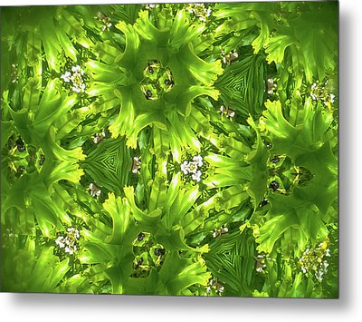 Kaleidoscope Flower Metal Print by Julia Wilcox