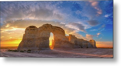 Metal Print featuring the photograph Kansas Gold by Darren White