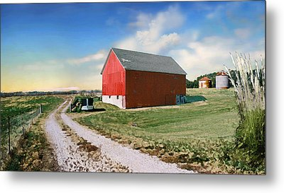Metal Print featuring the photograph Kansas Landscape II by Steve Karol