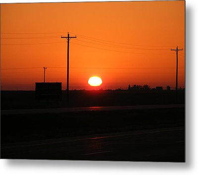 Kansas Sunrise Metal Print by Adam Cornelison