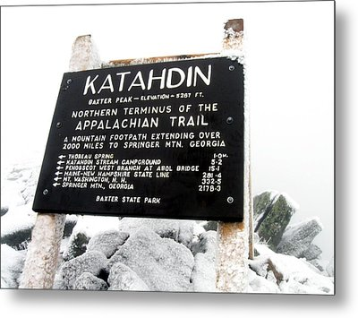 Metal Print featuring the photograph Katahdin - Baxter Peak by Doug McPherson