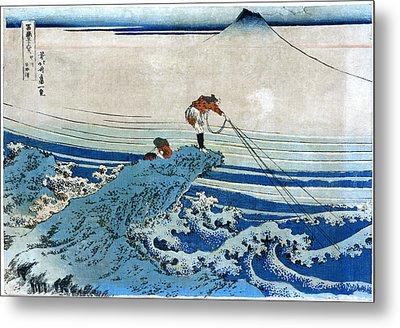 Katsushika: Fishing, C1834 Metal Print by Granger