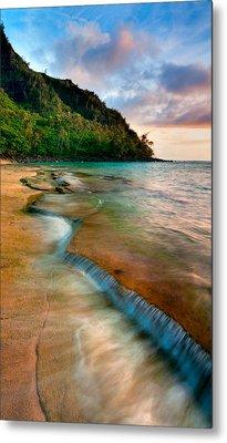 Kauai Shore Metal Print by Monica and Michael Sweet