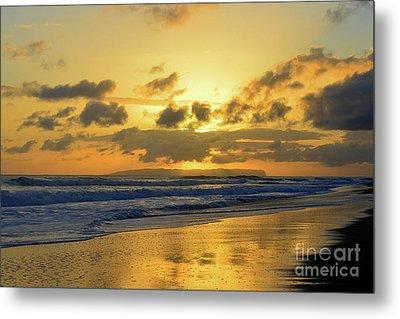Kauai Sunset With Niihau On The Horizon Metal Print