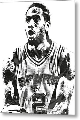 Kawhi Leonard San Antonio Spurs Pixel Art 4 Metal Print