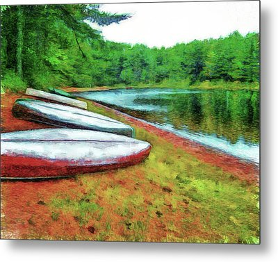 Kearney Lake Beach Metal Print