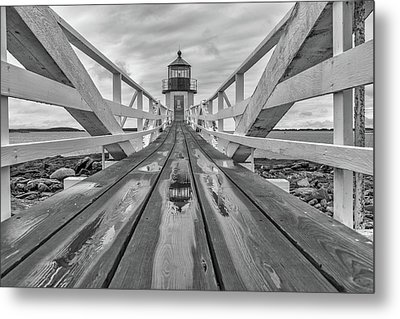 Keeper's Walkway At Marshall Point Metal Print by Rick Berk