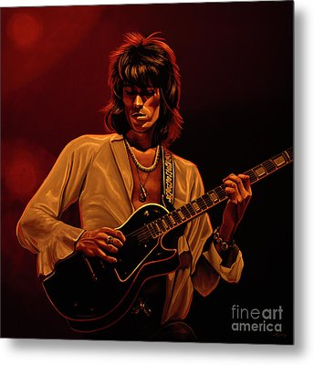 Keith Richards Mixed Media Metal Print by Paul Meijering