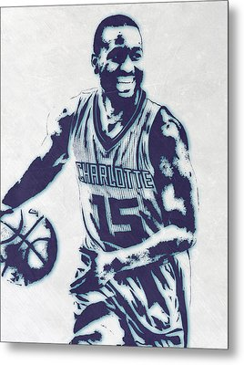 Kemba Walker Charlotte Hornets Pixel Art 2 Metal Print