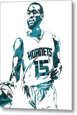 Kemba Walker Charlotte Hornets Pixel Art 5 Metal Print