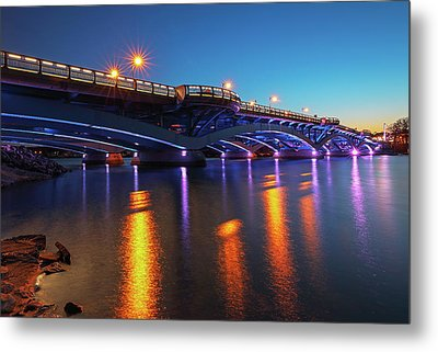 Metal Print featuring the photograph Kenneth F. Burns Memorial Bridge by Juergen Roth