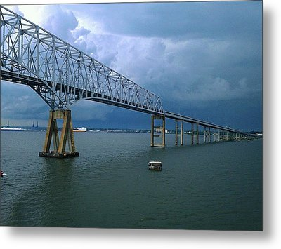 Key Bridge Metal Print