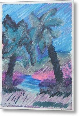 Key Palms Metal Print by Judy Loper