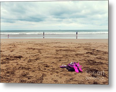 Metal Print featuring the photograph Kick Off Your Shoes by Linda Lees
