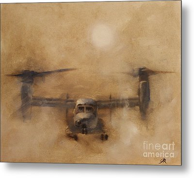 Kicking Sand Metal Print by Stephen Roberson