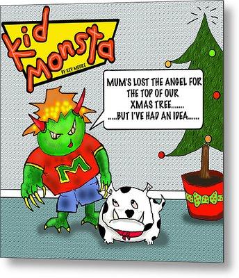 Kid Monsta Xmas 1 Metal Print