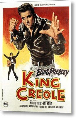 King Creole, Elvis Presley, 1958 Metal Print by Everett