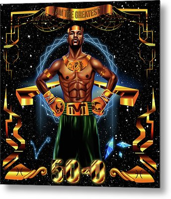 King Floyd Mayweather Metal Print by Kenal Louis