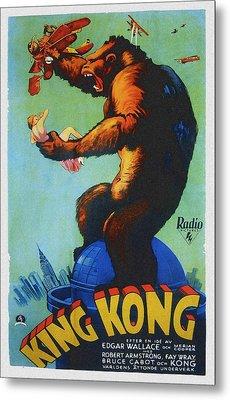 King Kong, Swedish Poster Art, 1933 Metal Print by Everett