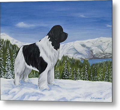 Metal Print featuring the painting King Of The Mountain by Sharon Nummer