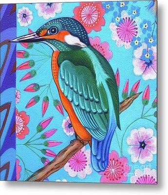 Kingfisher Metal Print by Jane Tattersfield