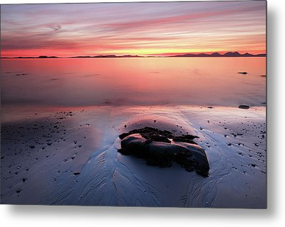 Metal Print featuring the photograph Kintyre Rocky Sunset 5 by Grant Glendinning
